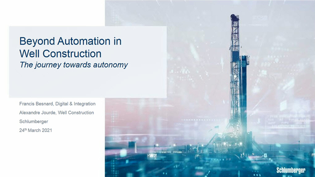 World Oil: Beyond Automation in Well Construction